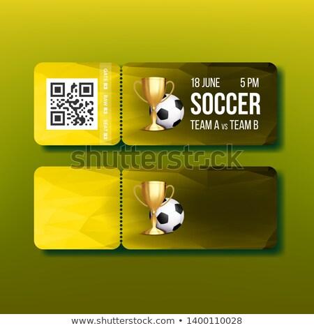 Jegy utalvány futball gyufa vektor futball Stock fotó © pikepicture