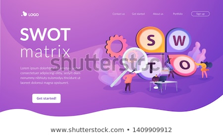 elemzés · pici · üzletemberek · tervez · projekt · módszer - stock fotó © rastudio