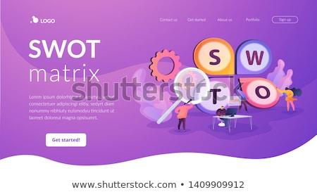 SWOT analysis landing page template. Stock photo © RAStudio