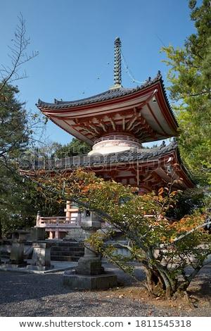 tempel · tuin · kyoto · Japan · gebouw · bos - stockfoto © daboost
