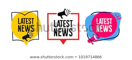 Establecer noticias reportero ilustración ordenador hombre Foto stock © colematt