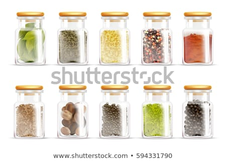 Spices, condiments and herbs decorative elements Stock photo © netkov1