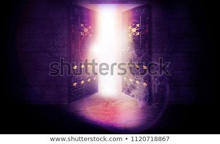 ドア 楽園 実例 雲 通り 将来 ストックフォト © adrenalina