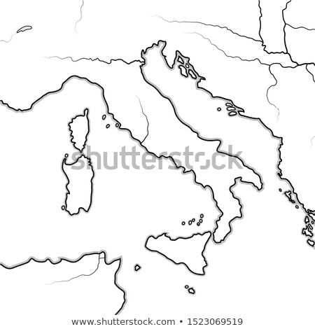 Map of The ITALIAN Lands: Italy, Tuscany, Lombardy, Sicily, The Apennines, Italian Peninsula. Chart. Stock photo © Glasaigh