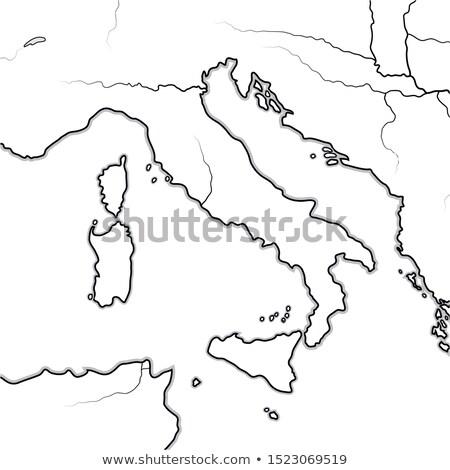 ストックフォト: 地図 · イタリア語 · イタリア · トスカーナ · シチリア島 · 半島