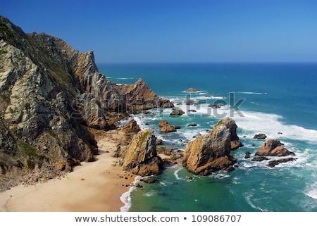 ビーチ 先頭 表示 リスボン ポルトガル 太陽 ストックフォト © frimufilms