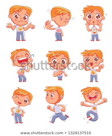 open mouth with tongue fun sticker colorful fun sticker stock photo © foxysgraphic