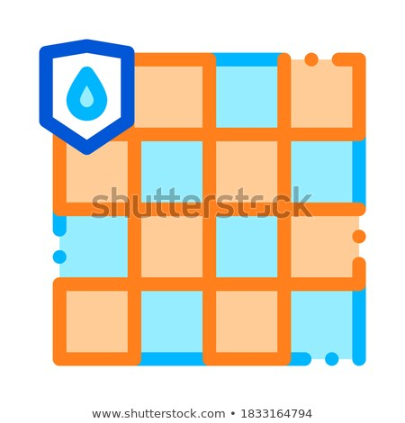 Waterdicht materiaal vector dun lijn icon Stockfoto © pikepicture