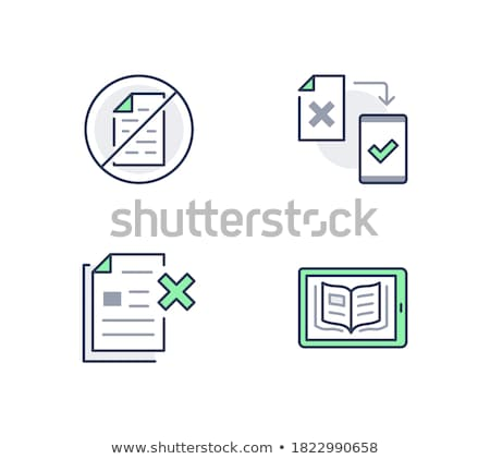 Green Ebook Document Icon stock photo © kbuntu
