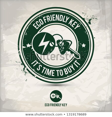 alternative eco friendly key stamp Stock photo © szsz