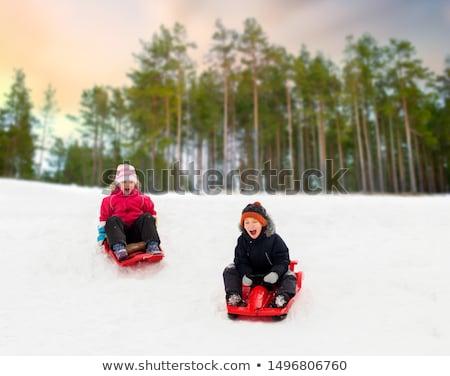 ストックフォト: 幸せ · 子供 · 冬 · 幼年