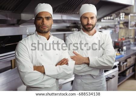 Iki erkek şefler ayakta mutfak Stok fotoğraf © wavebreak_media