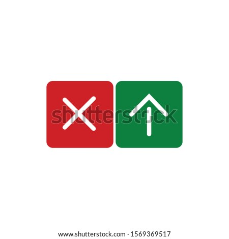 Traffic lights with arrow and cross. stop and go sign. Stock Vector illustration isolated on white b Stock photo © kyryloff