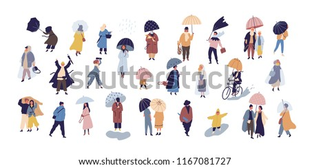 Outono pessoas conjunto coleção vetor estilo Foto stock © frimufilms