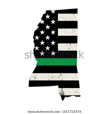 Mississipi askeri destek amerikan bayrağı örnek biçim Stok fotoğraf © enterlinedesign