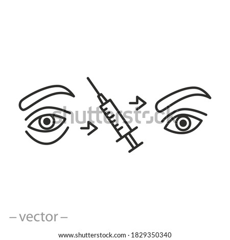 injection of syringe under skin icon vector outline illustration Stock photo © pikepicture