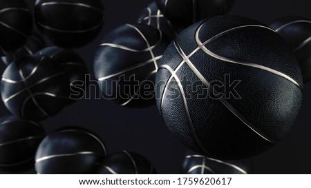 黒 金 バスケットボール コンセプト トリム 孤立した ストックフォト © albund