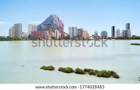 Urban skyline of Calpe. High rise residential buildings against  Stock photo © amok