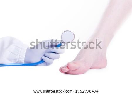 Barefoot woman in office uniform stock photo © Pilgrimego