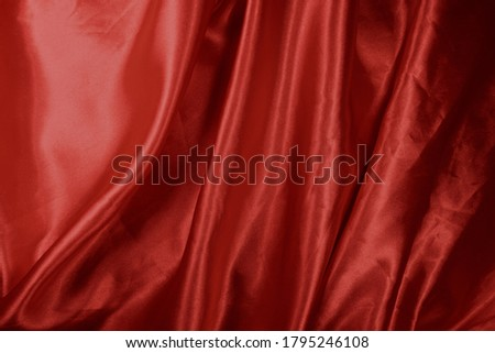 red background texture that looks like a silky fabric or curtain Stock photo © cozyta