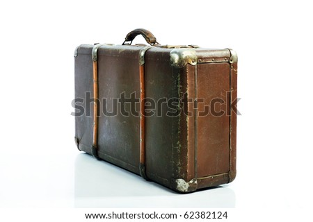 Well-traveled Suitcase Isolated on White Stock photo © shutswis