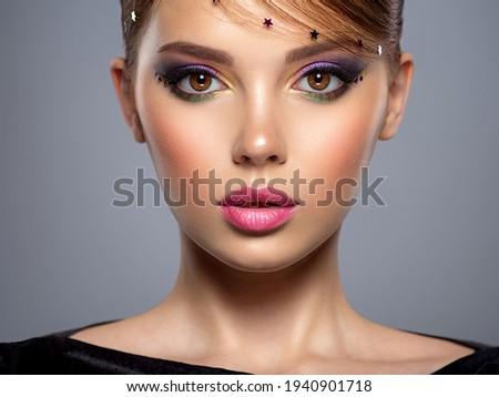 美 少女 輝かしい 活気のある 化粧 ファッション ストックフォト © gromovataya