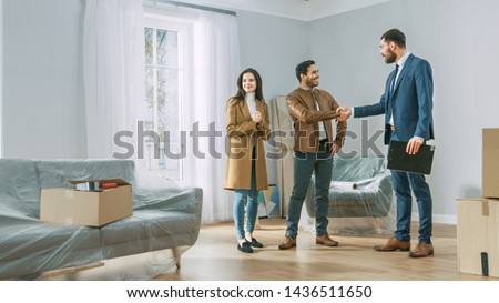 Successful estate-agent with sold sign Stock photo © photography33