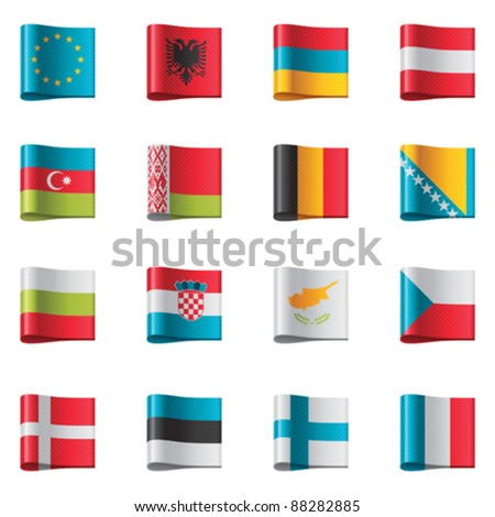 Badges Deel 1 Stockfoto © tele52