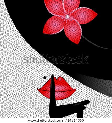 Kadın eller biçim çerçeve beyaz dantel Stok fotoğraf © alexandkz