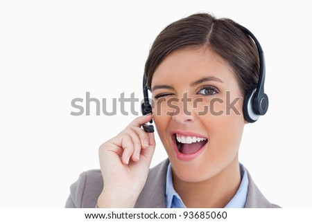 Call center agente branco telefone trabalhar Foto stock © wavebreak_media