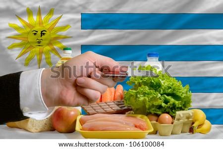Buying Groceries With Credit Card In Uruguay Foto stock © vepar5