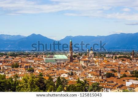 Vicenza, Italy, city of architect Palladio Stock photo © meinzahn