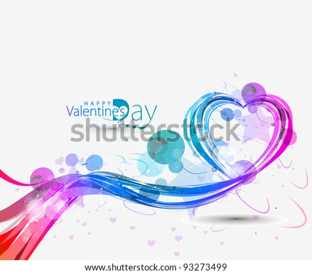 creative background with scrolls circles and heart shapes vect stock photo © wad