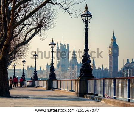 Embankment in London Stock photo © chrisdorney