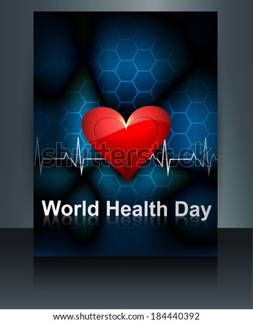 Vector brochure world heath day template medical colorful backgr Stock photo © bharat