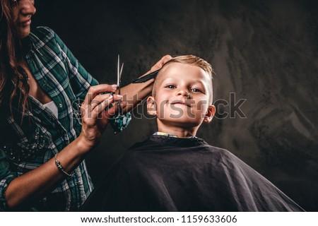 Jonge jongens kapper kinderen man gelukkig Stockfoto © meinzahn