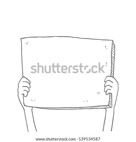 man holding a blank card. Illustration design over a white backg Stock photo © alexmillos