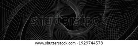 Monochrome pattern with black and dark gray wavy guilloche squar Stock photo © Zebra-Finch