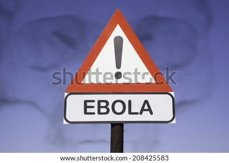 road warning exclamation point warns about Ebola virus concept  Stock photo © kiddaikiddee