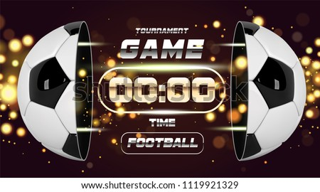 Vector graphic illustration of two football players and a ball Stock photo © feabornset