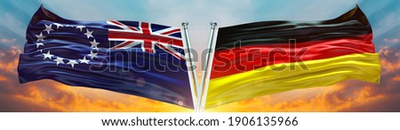 Germany and Cook Islands Flags Stock photo © Istanbul2009