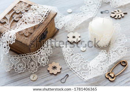 Decorations for clothes - beautiful buttons for designer clothes Stock photo © koldunov