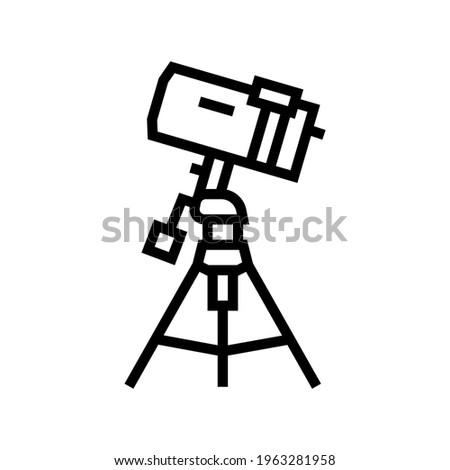 Vektor skicc távcső illusztráció fekete szín Stock fotó © TRIKONA
