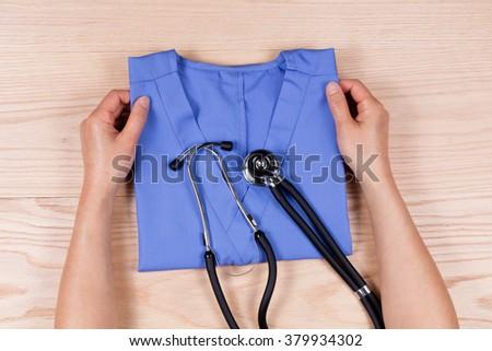 stetoskop · beyaz · el · tıbbi · tıp - stok fotoğraf © tab62