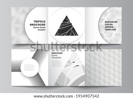 minimal abstract gray polygon shapes trifold brochure template Stock photo © SArts