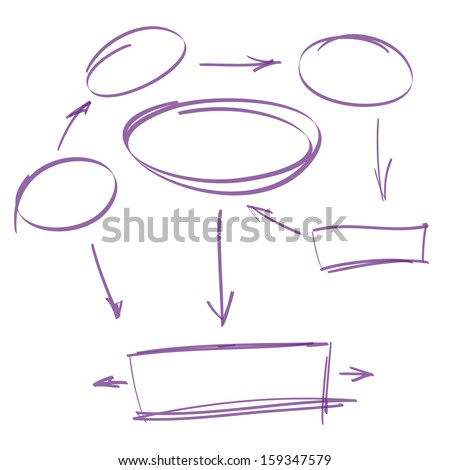 infograph bubble speech template with hand drawn sketches stock photo © davidarts