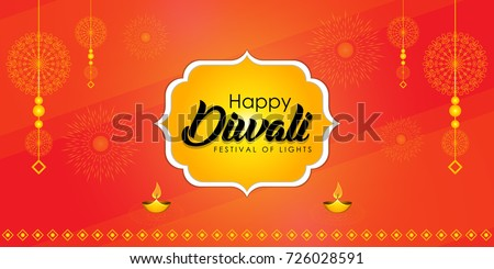 creative diwali festival banners with diya and decorative elemen Stock photo © SArts