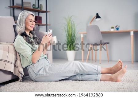 flat type green shirt old womenemotion stock photo © toyotoyo