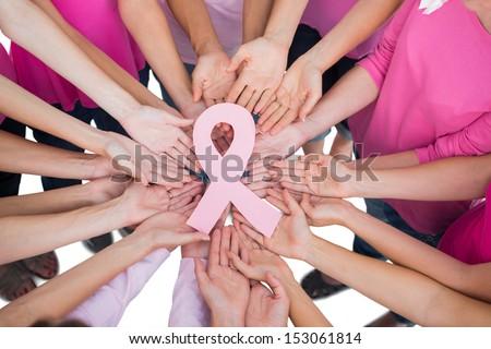 Постоянный женщину Рак молочной железы осведомленность лента белый Сток-фото © wavebreak_media