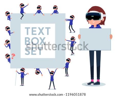 flat type VR goggle women_icon Stock photo © toyotoyo